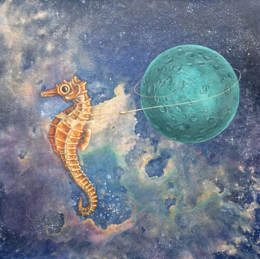 Seahorse Canvas Print Sea Creatures Art Seahorse Art Creature Art