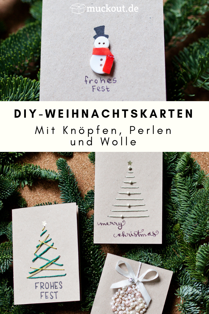Weihnachtskarten Selbst Gestalten Foto.Diy Idee Weihnachtskarten Selbst Gestalten Diy Muckout Diy