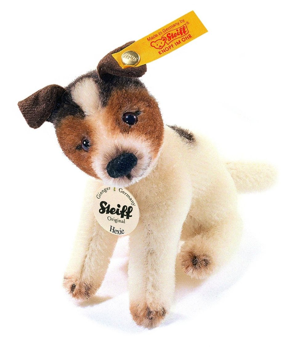 Steiff Hexie Jack Russell Terrier Mohair Stuffed Animal 4