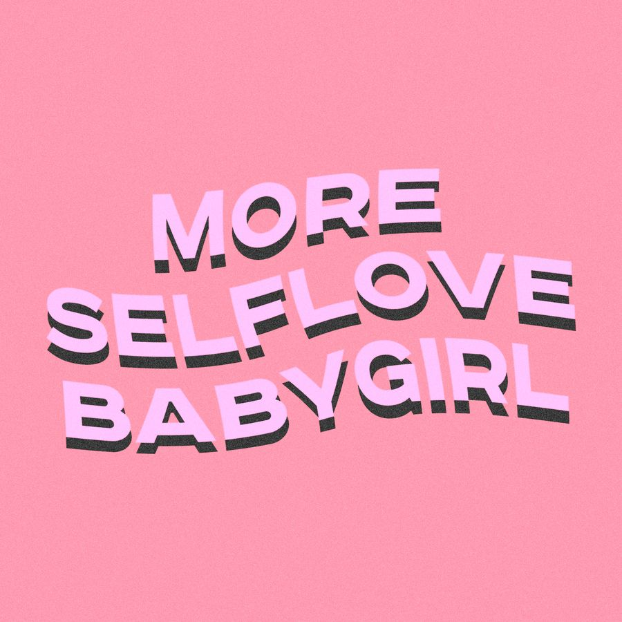 more selflove babygirl Throw Pillow by typutopia - Cover (16