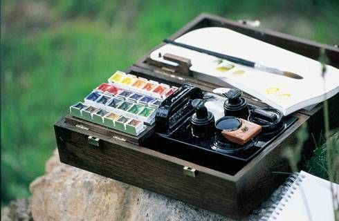 Now That Is Spiffy Fragonard Watercolour Case Watercolor Kit
