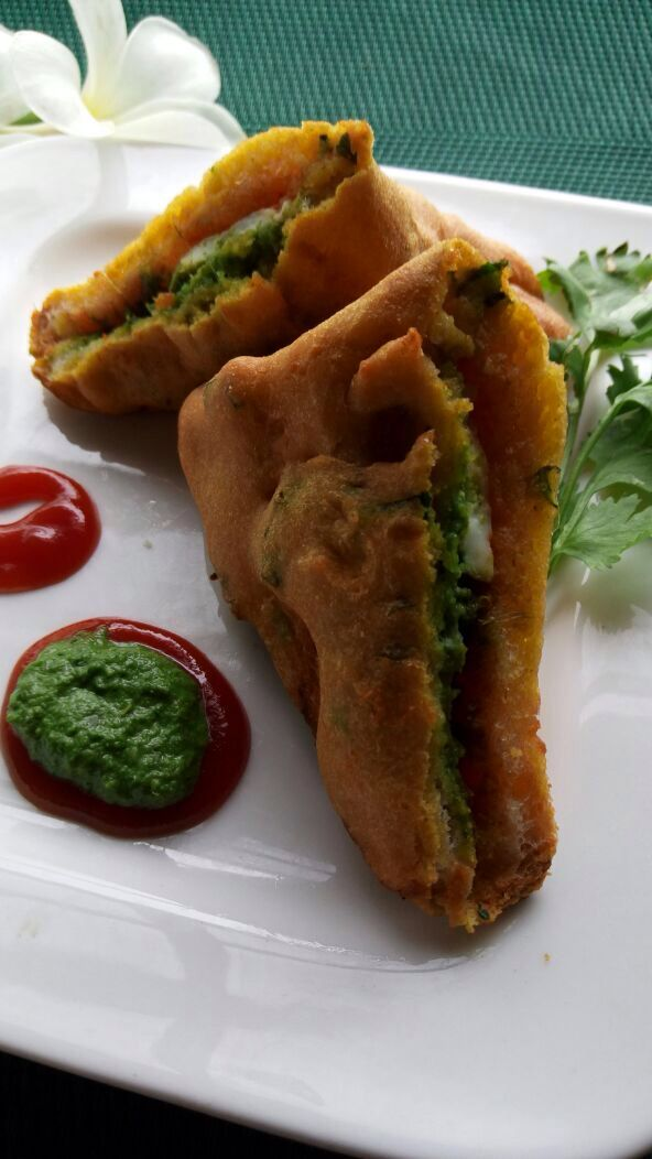 Paneer and bread Pakora #Snack