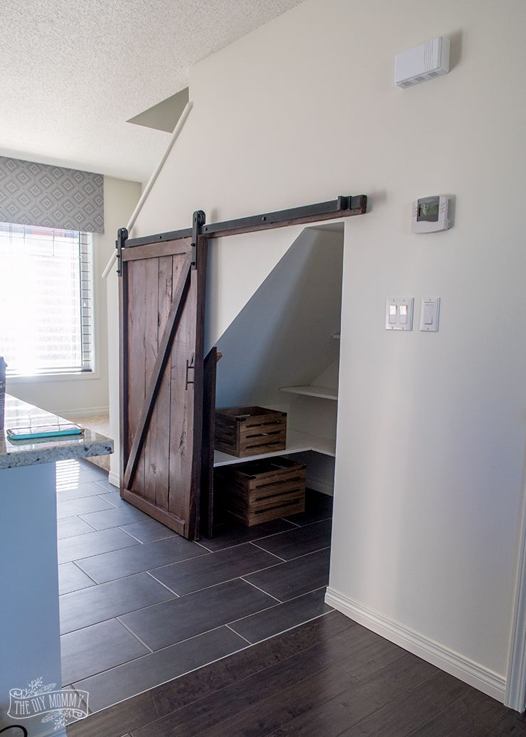 How To Build An Under Stairs Pantry With A Diy Sliding Barn Door