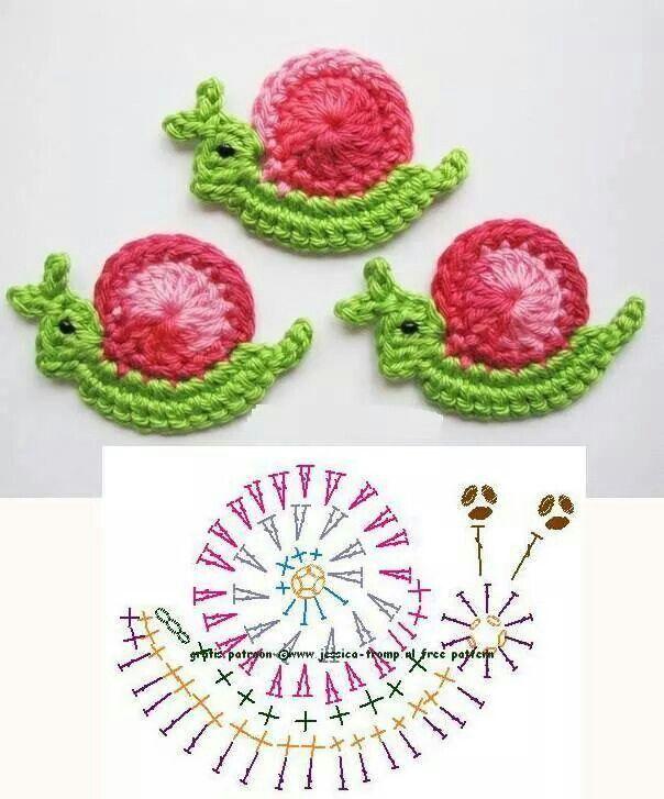Snails | juguetes tejidos | Pinterest | Ganchillo, Aplicación y Tejido