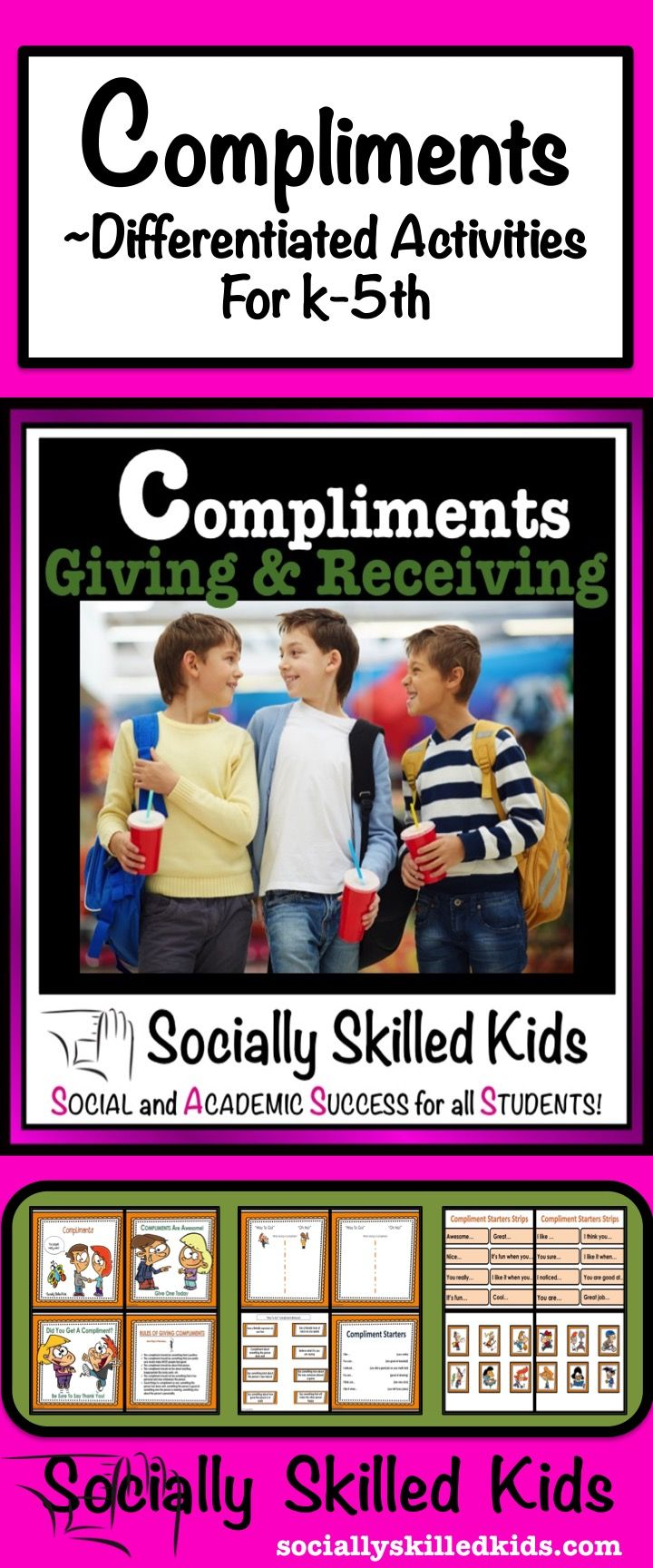 Compliments fun and differentiated activities to help