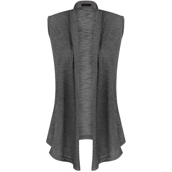 9d45a75a641b77 Vessos Women Vests Sleeveless Open Front Shawl Collar Shrug Jersey... ( 14)