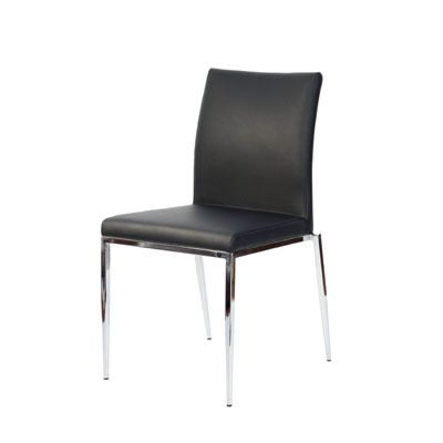 Stupendous Romasy Low Backed Kitchen Dining Chair Black Faux Leather Creativecarmelina Interior Chair Design Creativecarmelinacom