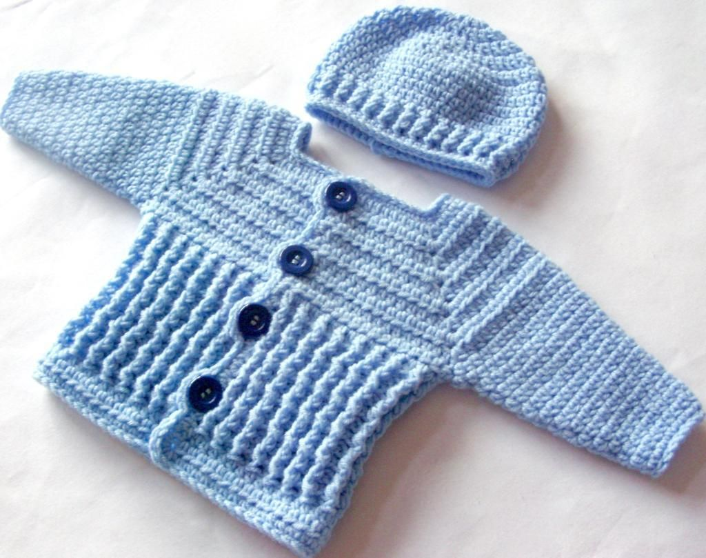Baby Boy Sweater and Hat Set 47 | Baby boy sweater, Babies and Crochet