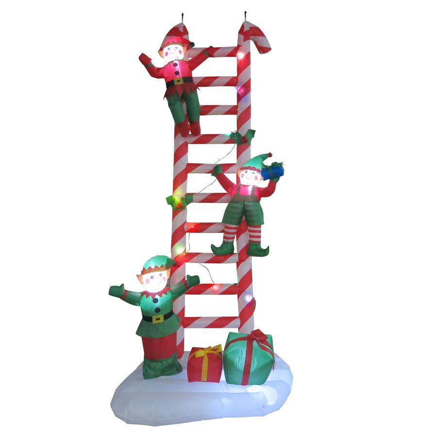 Holiday Living 8.86-ft x 3.61-ft Lighted Candy Cane Christmas ...