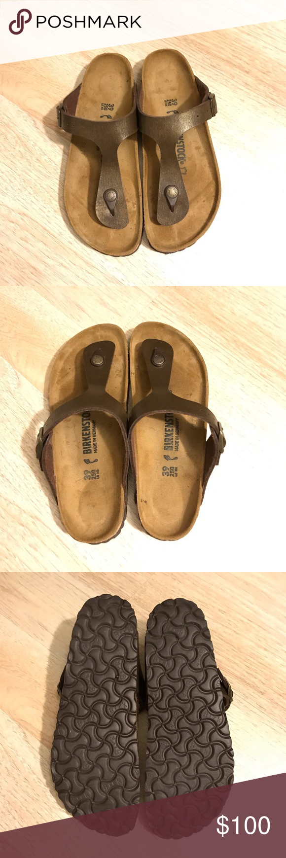 b07cee6acff New without box Birkenstock Gizeh size 39 NEW Birkenstock Gizeh Oiled  leather Tobacco Brown size 39 Birkenstock Shoes