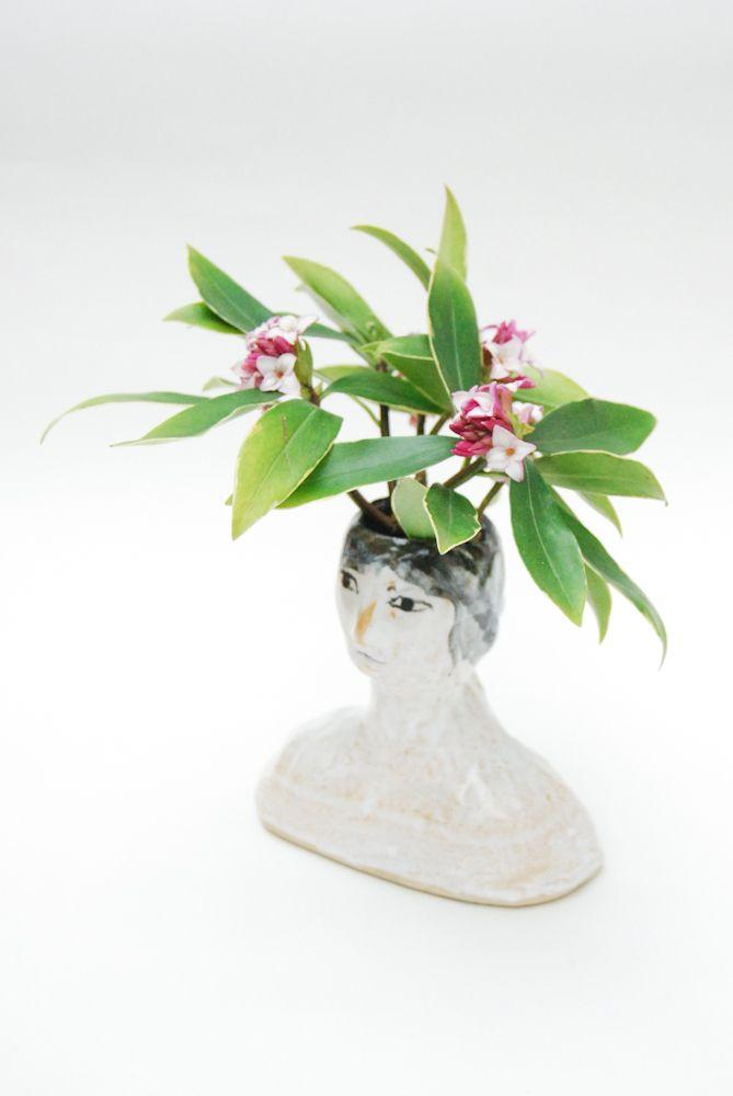 Ceramic lady vase Made by Kaye Blegvad