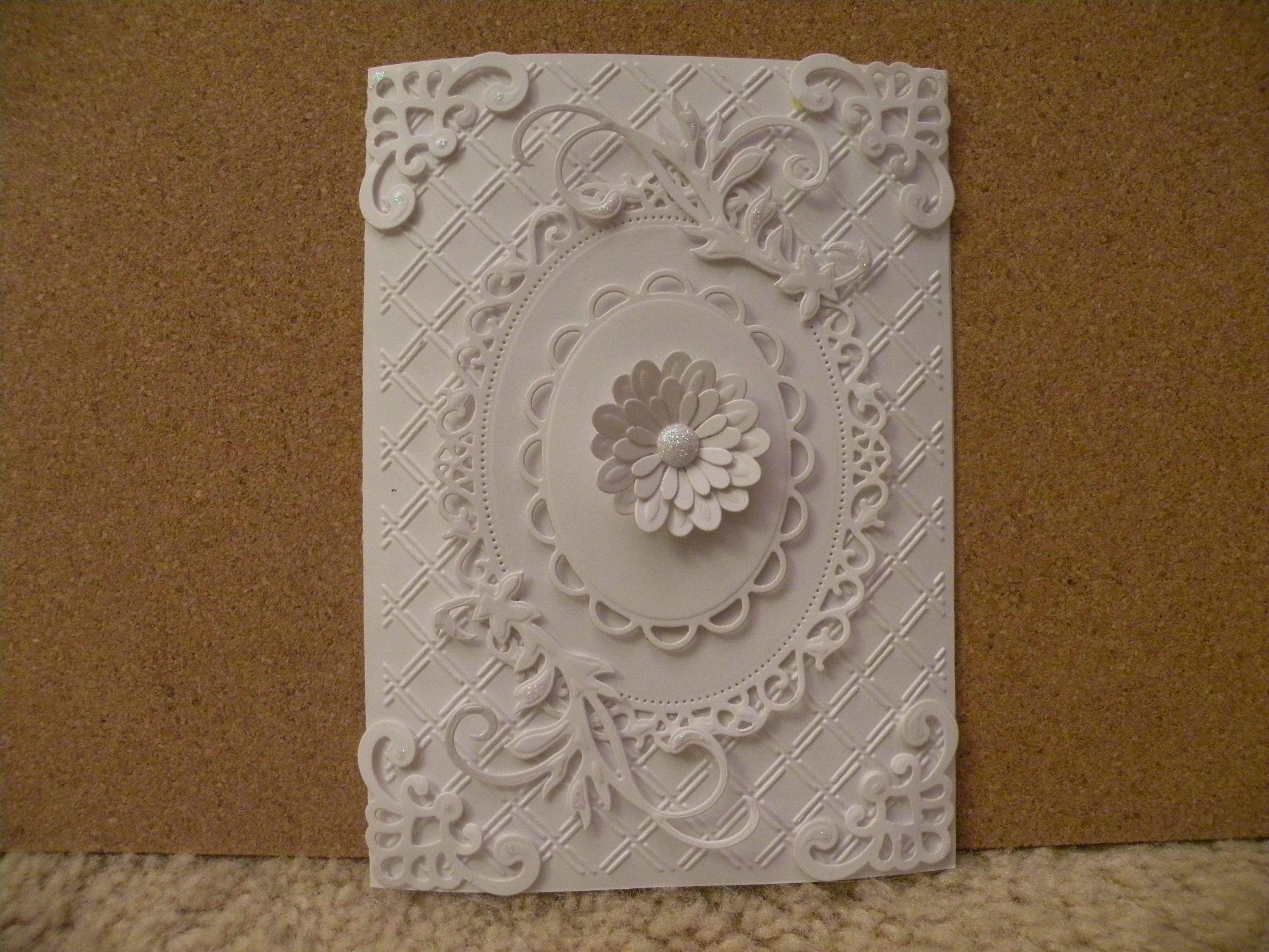 Card Making Ideas Using Cuttlebug Part - 31: Card Made For My Mom Using Spellbinders Dies And Cuttlebug Embossing Folder.