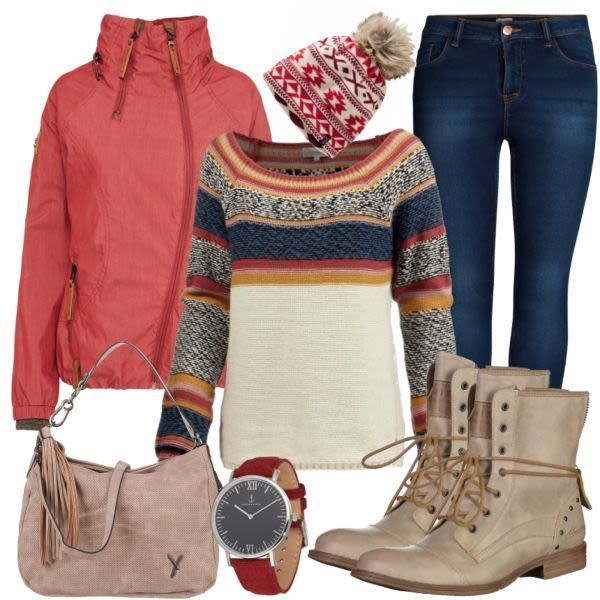 Maximum Style Damen Outfit Komplettes Herbst Outfit
