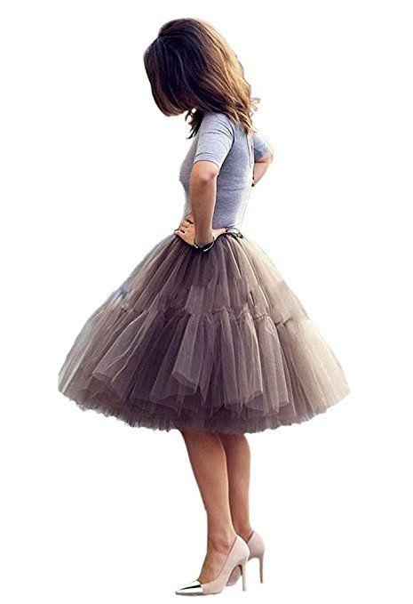 268af7ea32f NUOMIQI falda de tul de las mujeres falda plisada princesa de 5 capas de la  falda del ballet de la enagua del organza del tutú Pettiskirt  Amazon.es   Ropa y ...