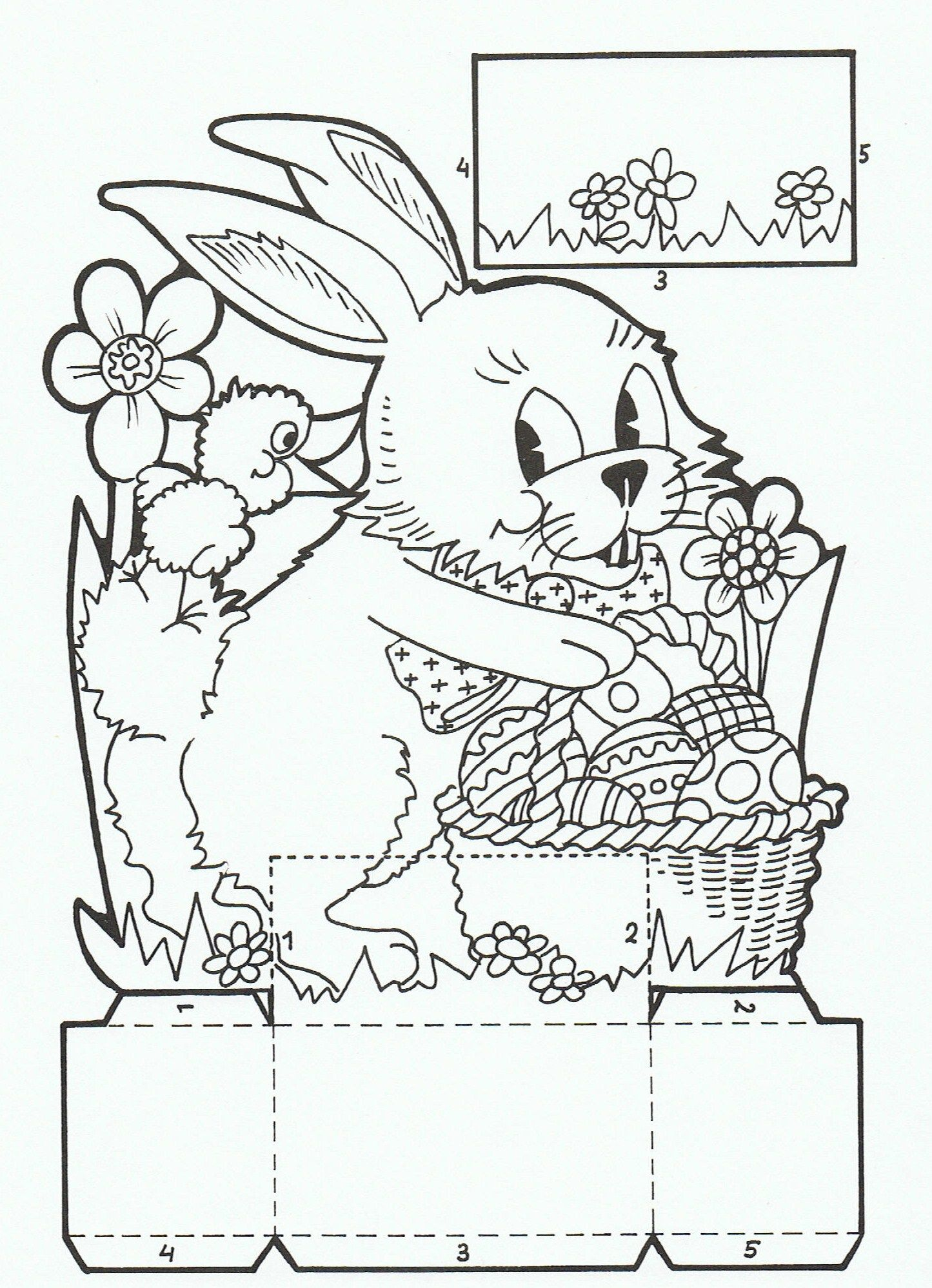 Easter Coloring Pages Book Colouring Sheets Crafts Ideas Spring Theme Baskets Paste