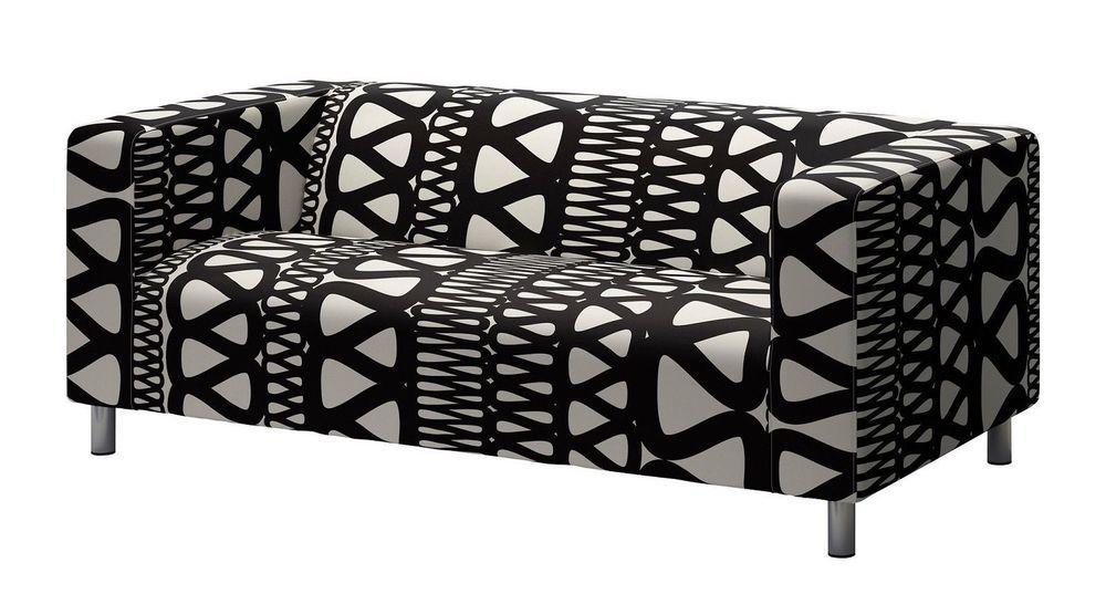 Ikea Klippan Slipcover Storlien Sofa Loveseat Cover 401 546 79 Black And White Ikea Klippan Sofa Loveseat Covers Klippan