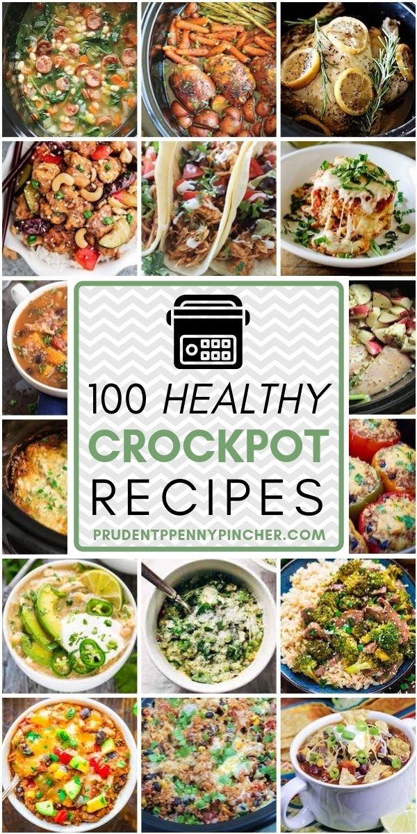 100 Healthy Dinner Crockpot Recipes #crockpotrecipes