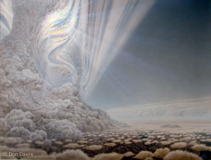 View on another planet. Artist Don Davis.