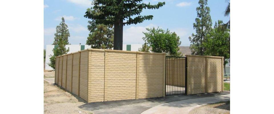 Brickcrete Artisan Precast Artisan Precast Concrete Fence Outdoor Decor Iron Fence