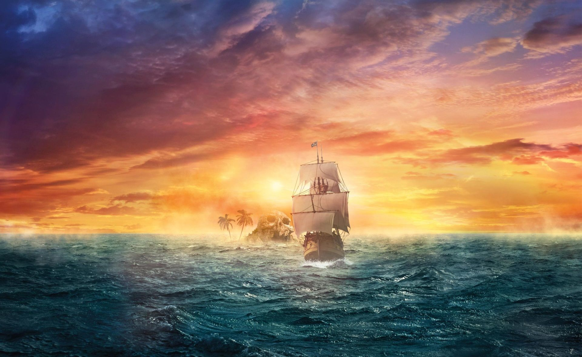 1920x1180 Pirate Ship Free Download Wallpaper For Pc Water