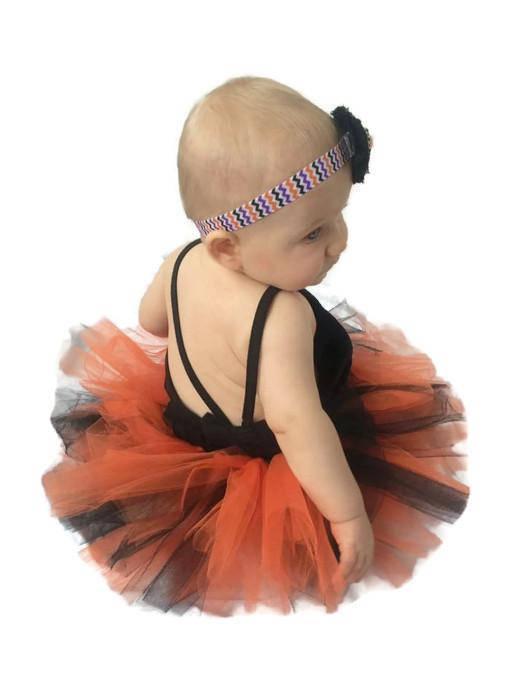 14676069a2ec2 Halloween Costumes baby, kids, adult. Orange Black Tutu and headband ...