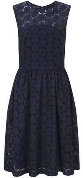 Women's Blue Orient Eyelets Dress | Inspiration, Fabrics and So cute
