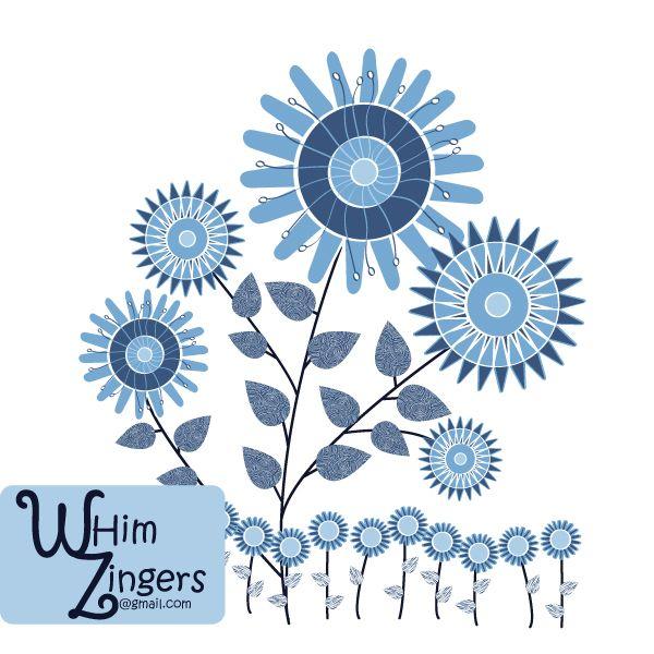 #textile #design #graphic #vector#patterns #homedecor #apparel #print #interiordesign #decor  #scrapbooking  #whimzingers #classic #blue #floral #flowers