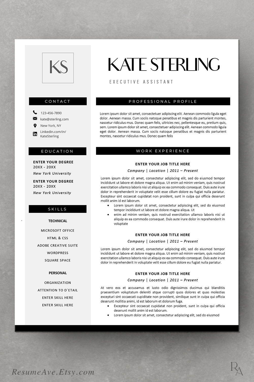 Modern design of resume template word download minimal