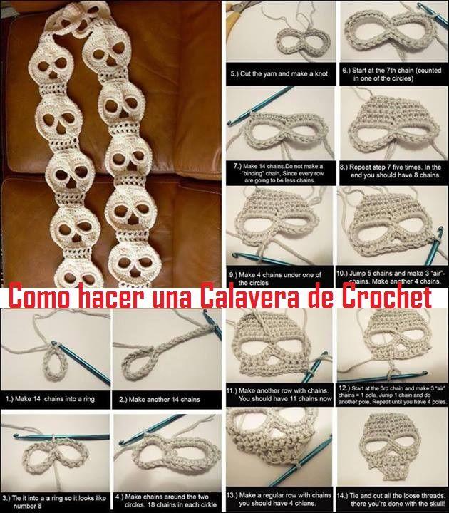 Patrones Crochet: Motivos solo de Halloween en Crochet ...