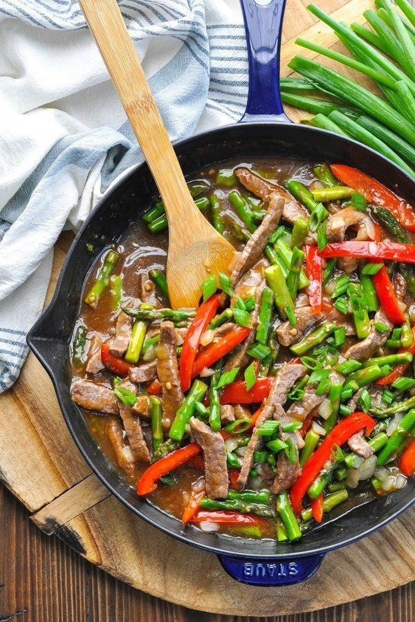 Asparagus and Beef Stir Fry #healthystirfry