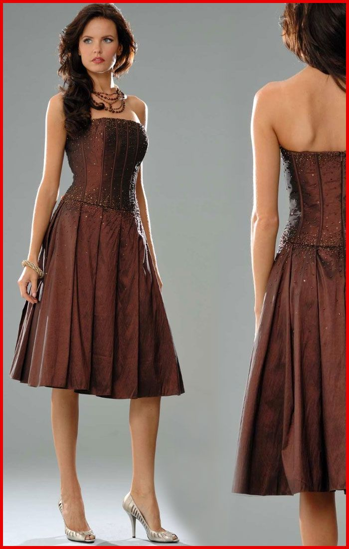 Sean Collection Strapless Brown Cocktail Dress | Products I Love ...