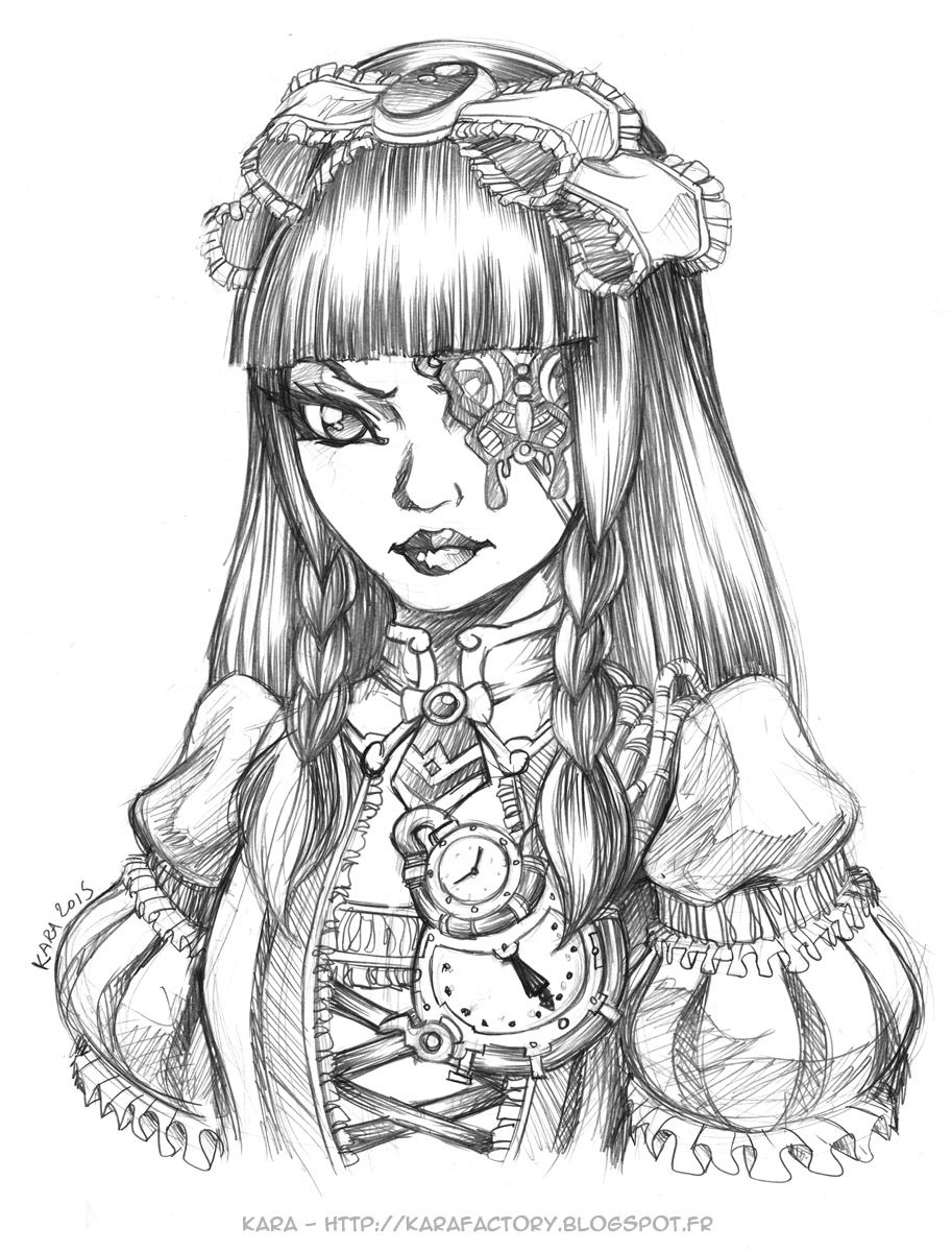 Karafactory Voices Steampunk Coloring Coloring Book Art Coloring Pages [ 1200 x 913 Pixel ]