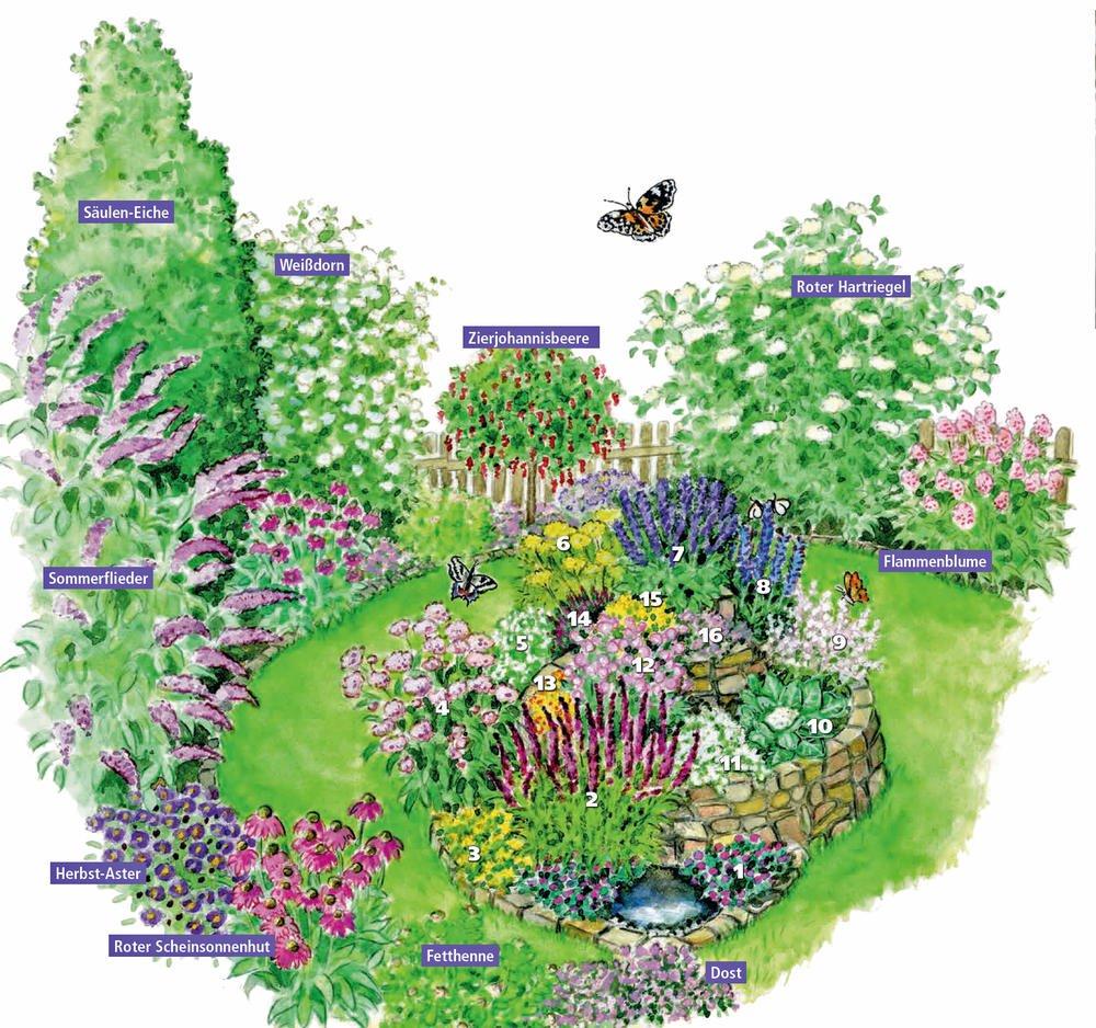 Schmetterlingsspirale: Tummelplatz für bunte Falter #vorgartenanlegen