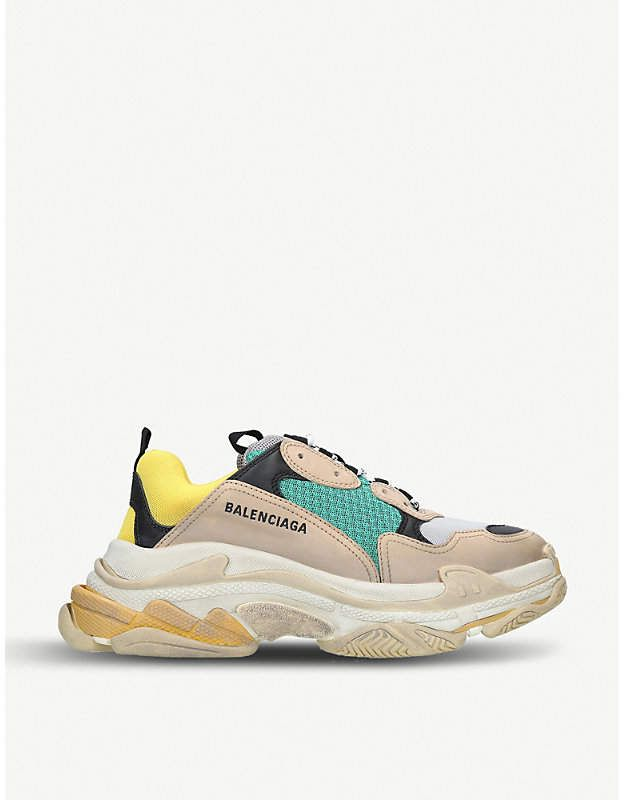 774a2fda5d4 BALENCIAGA Mens Capsule Triple S Runner leather and mesh sneakers in ...