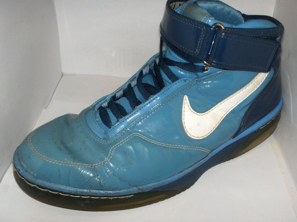 best cheap fae07 86921 NIKE AIR FORCE 25 MENS BLUE PATENT LEATHER SIZE 11 GOOD SHAPE  Nike   AthleticSneakers