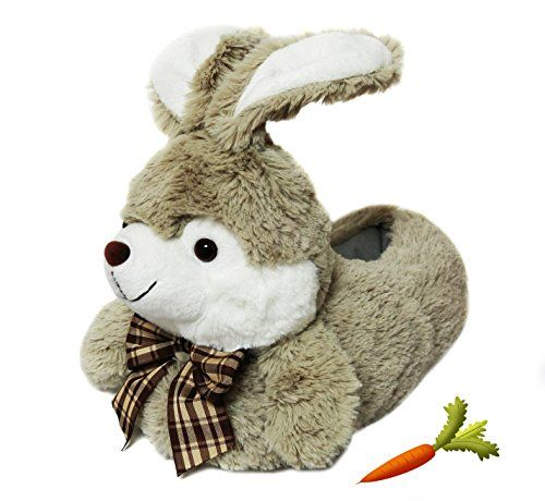 Onmygogo Fuzzy Winter Animal Bunny Slippers for Adult Women ... 3a47122b2