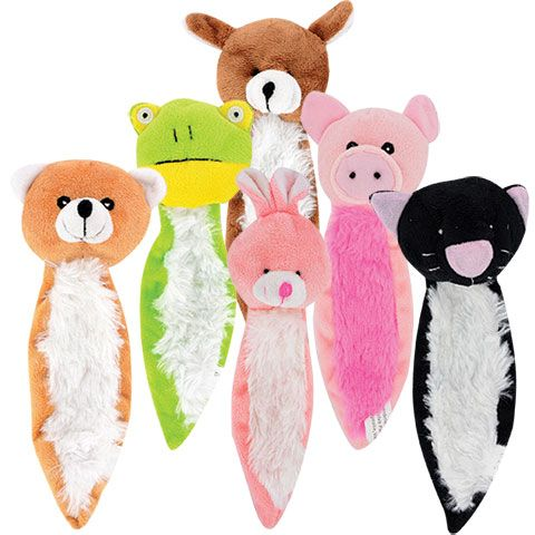 Greenbrier Kennel Club Long Animal Shaped Plush Dog Toys With
