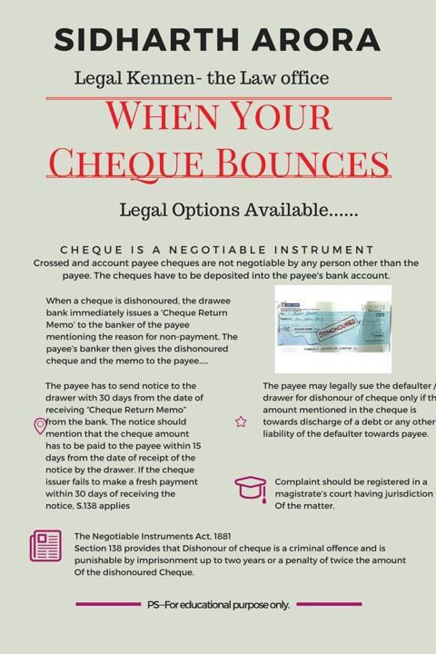 Legal Receipt Of Payment Endearing Cheque Bouncing Remains A Very Commonly Encountered Legal Matter In .