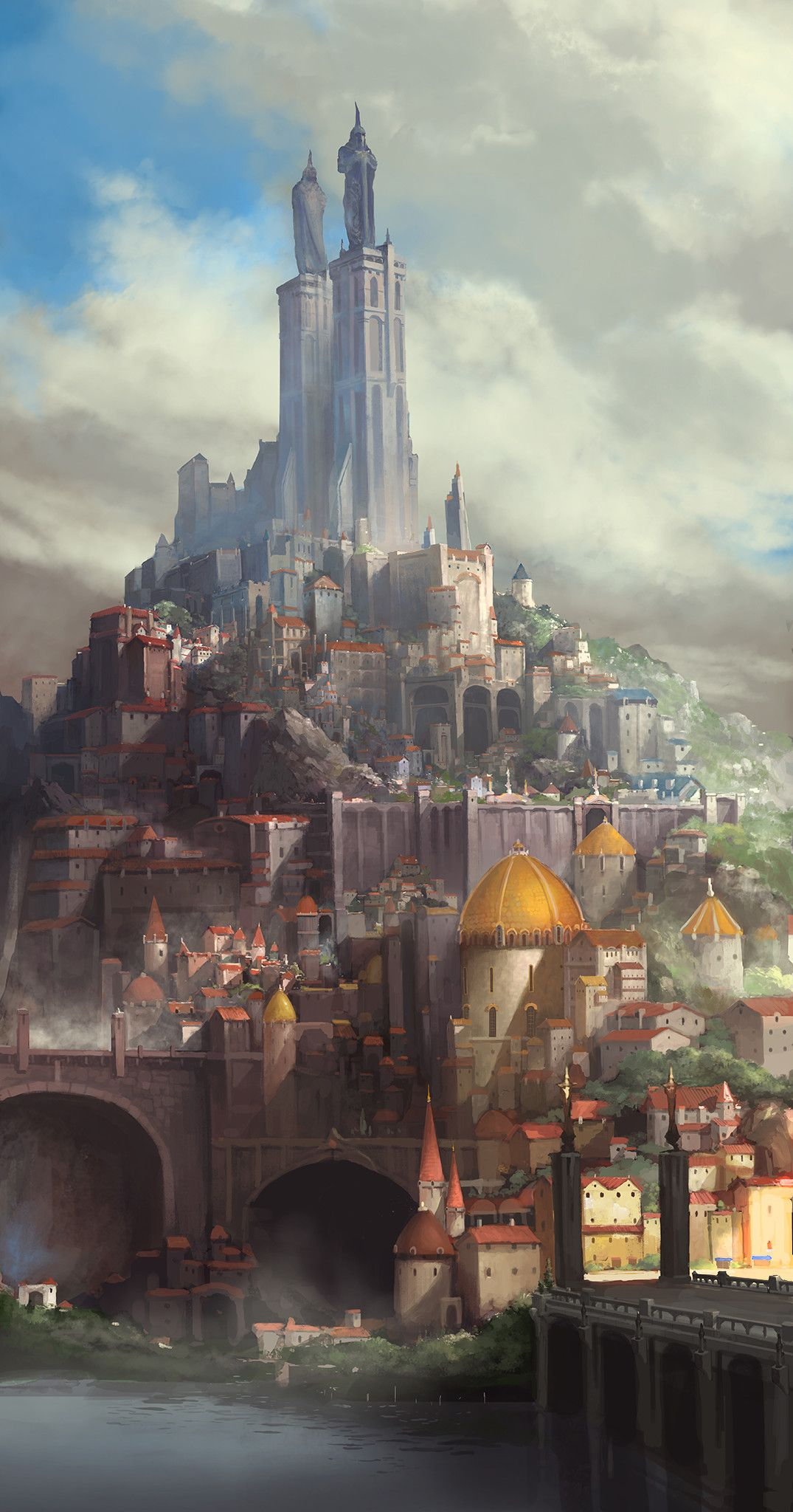 Medieval Fantasy Cities : medieval, fantasy, cities, Might, Capital, Republic., Fantasy, Landscapes,, Castle,, Concept