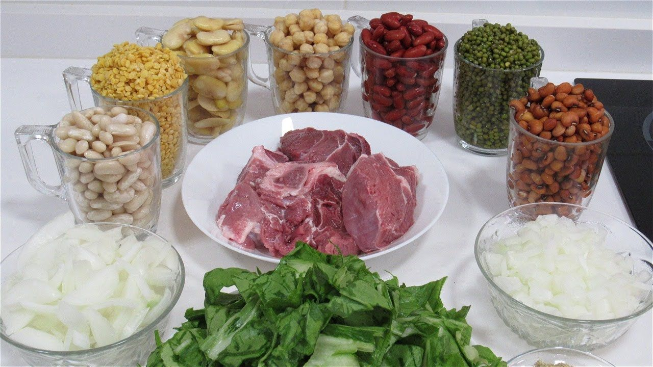 شوربة الآش بطريقه سهلة من اطيب الشوربات مليانة حديد و بروتين للطاقة و لم Food Meat Steak