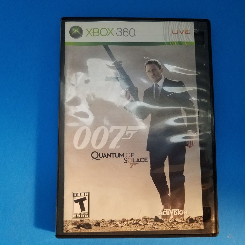 James Bond 007 Xbox 360 Quantum Of Solace Video Game Xbox360