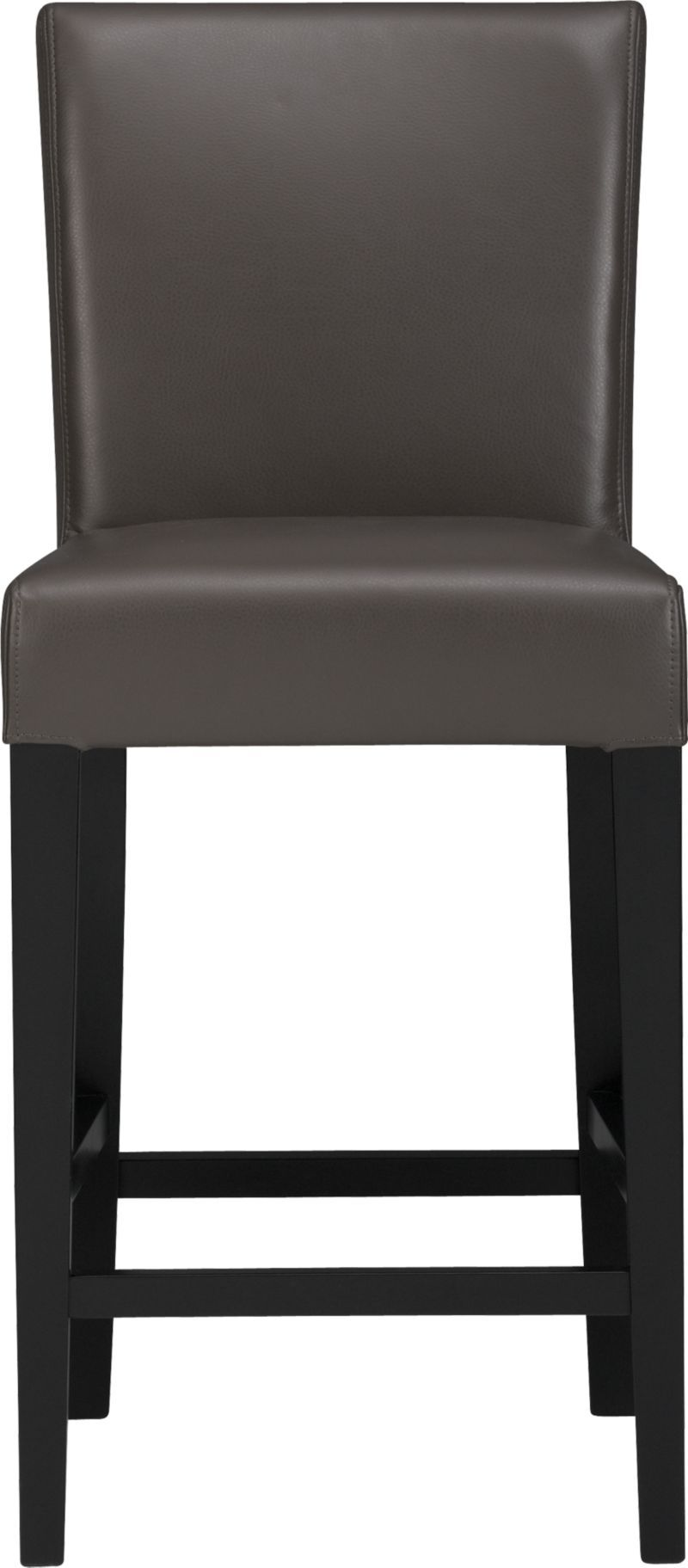 Lowe Smoke 24 Quot Leather Counter Stool Crate And Barrel
