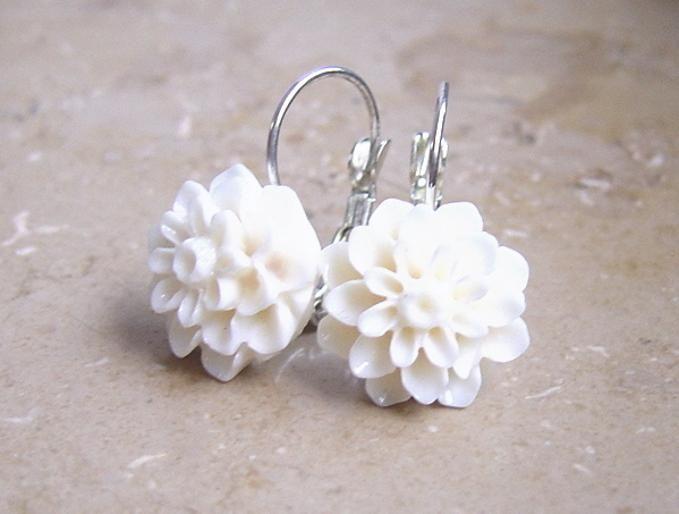 White flower earrings white flower earrings flower jewelry white flower earrings white flower earrings mightylinksfo
