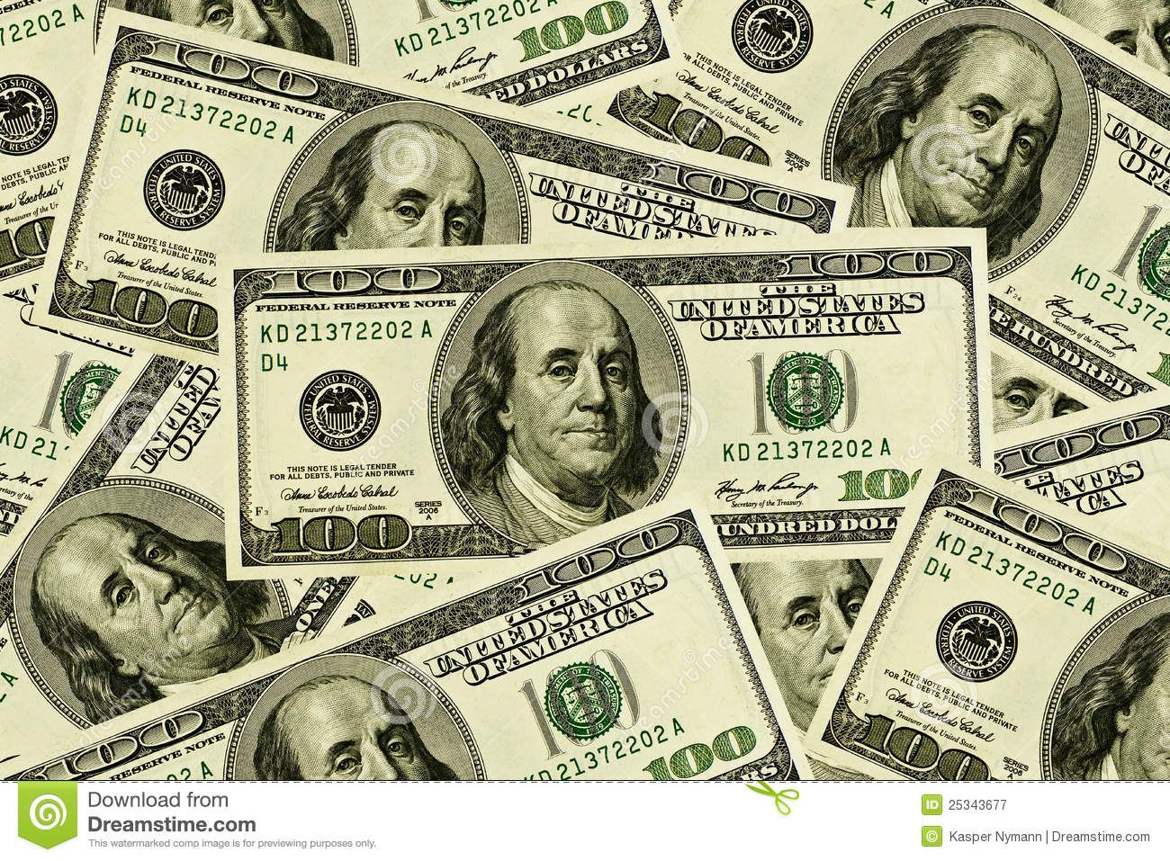 100 Dollar Bills Background Stock Photos, Images