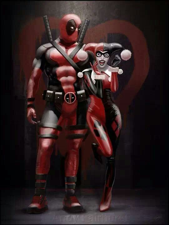 I'm seriously loving all the Deadpool x Harley Quinn