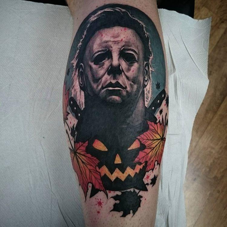 Happyhalloween halloween horror tattoo tattoos for Michael myers tattoo