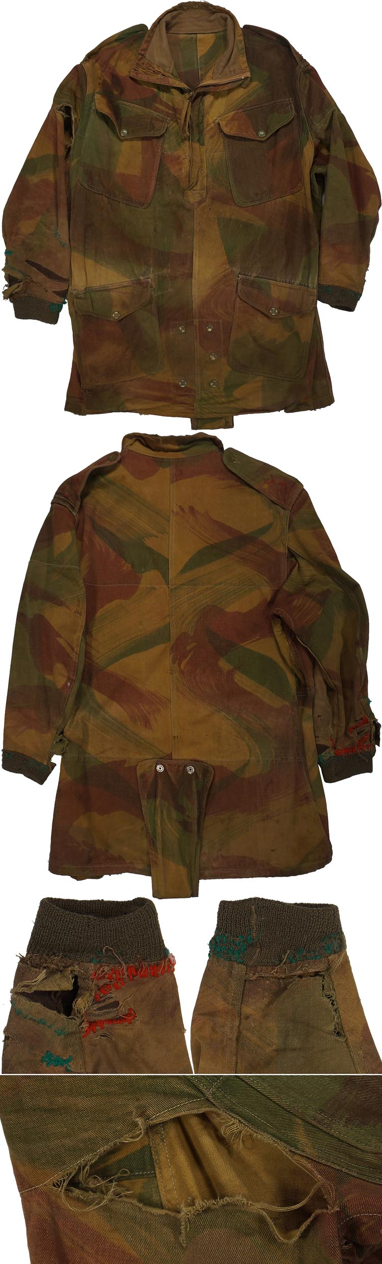 painterly antique camouflage 1941 Poncho liner, Outdoor