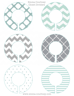clothes divider template - closet dividers printable baby boy hancock pinterest