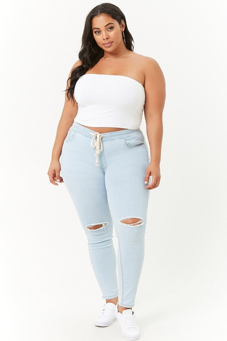 f487326c0f3 Plus Size Distressed Denim Pants | My Style in 2019 | Plus size ...
