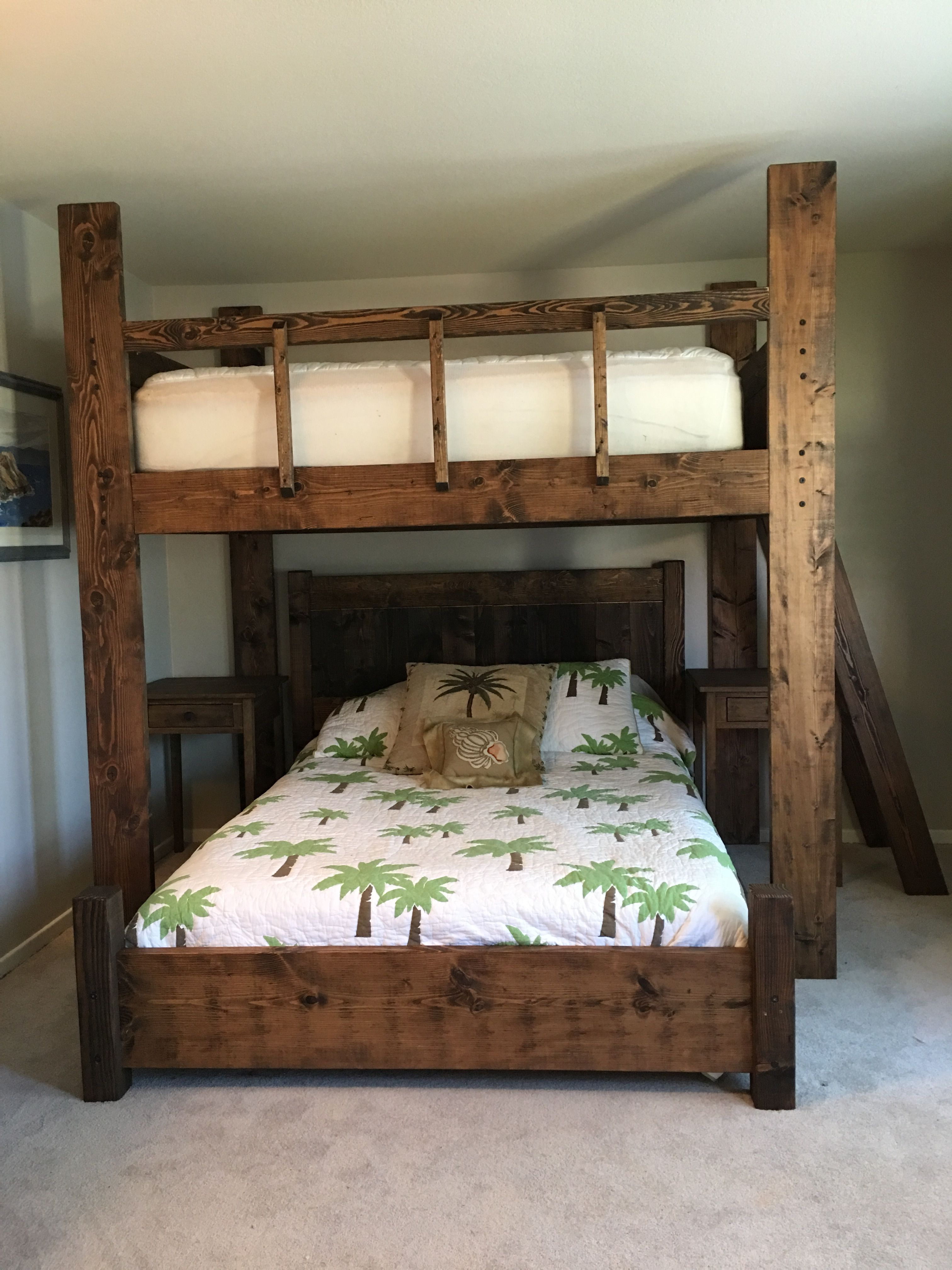 Custom loft bed ideas  Queen bunk with full on top Delivered nationwide  Custom Bunk